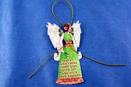 Decorative Gift Tag (and Ornament) - There are those who give with joy...