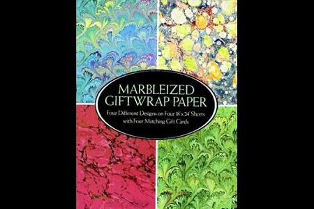 Marbleized Gift Wrap