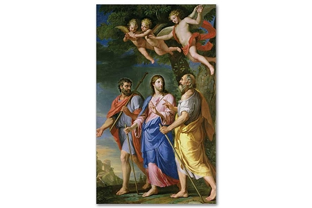 Christ on the Road to Emmaus Holy Card - Package of 5