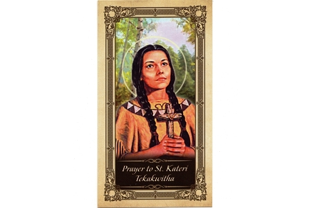 St Kateri Tekakwitha Laminated Holy Card