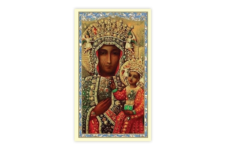 Laminated Our Lady of Czestochowa Holy Card