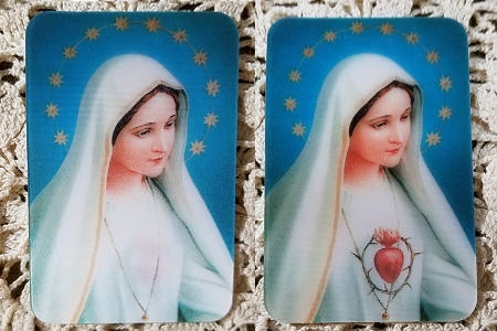 Sacred Heart of Mary Lenticular (3D Changeable) Holy Card