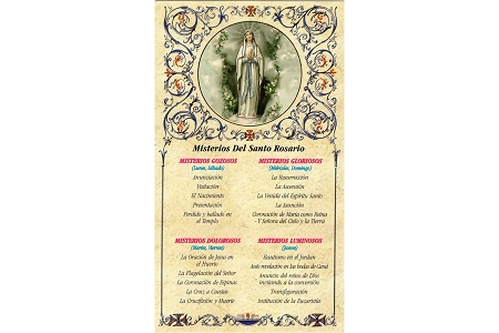 Misterios del Santo Rosario (The Mysteries of the Rosary) in Spanish - Package of 5