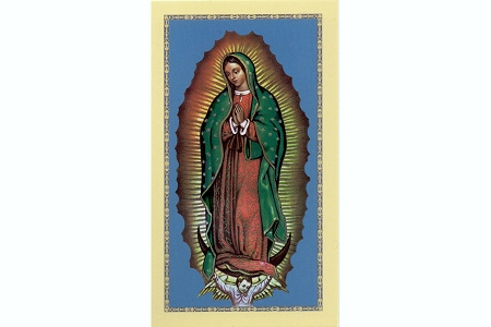Our Lady of Guadalupe Holy Cards in ENGLISH or SPANISH
