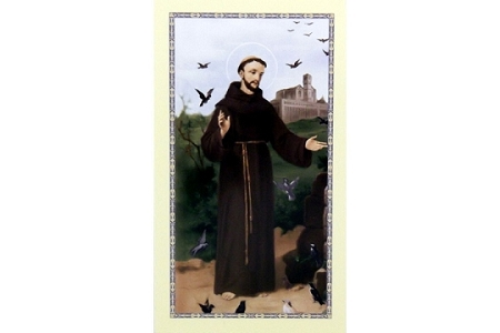 St Francis of Assisi and the Birds Holy Cards - Package of 5