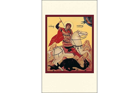 5 St George and the Dragon Icon Style Holy Cards