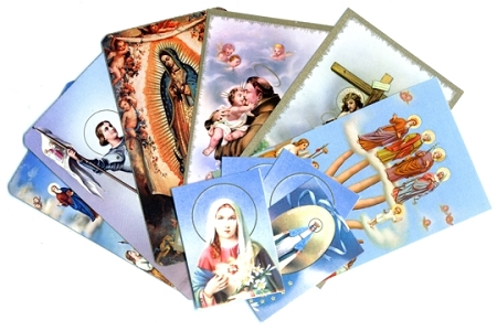 10 Assorted Holy Cards