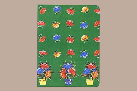 Blank Journal - Las Rosas (Green with Roses)