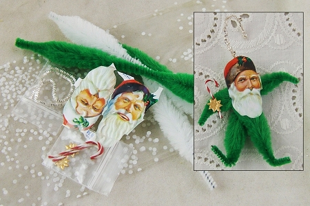 Exclusive Chenille Santa Claus Ornament Kit<br><i>  &nbspWOW! Kit Now Makes 3 Santas!</i>