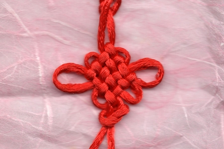 Red Chinese Knot Tassel (Eternal Knot)