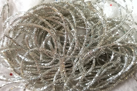SILVER Krausbouillion (Old Fashioned Krinkle Wire) - About 2/3 Ounce