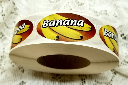 Oval Banana Label