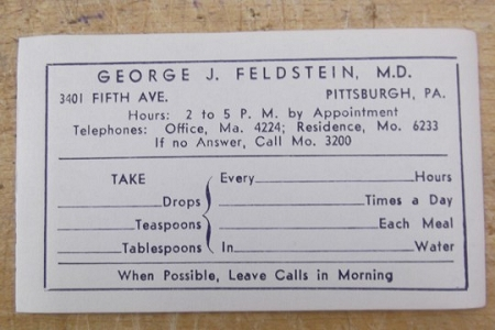 Dr. George Feldstein's Labels - Package of 5