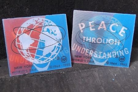 World Peace Through Understanding Vintage Lenticular<font color=