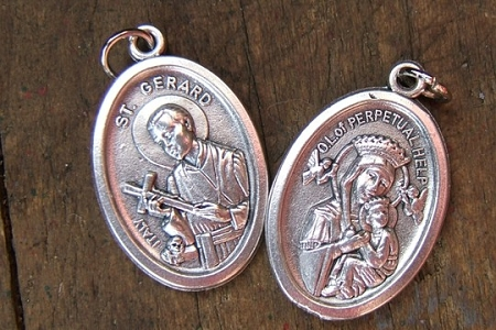 Reversible St Gerard Majella & Our Lady of Perpetual Help Medal