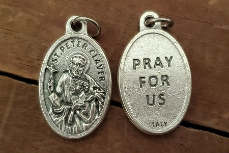 St Peter Claver Medal - Patron Saint of Slaves, Race Relations & Missionary Work