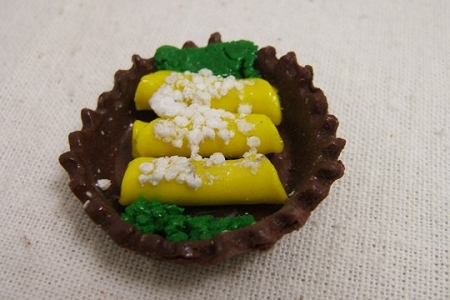 Handmade Miniature Plate of Enchiladas