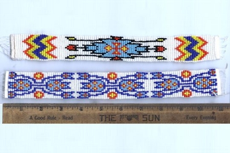 Native American Indian Style Beaded Motif - Apache (Top Picture)