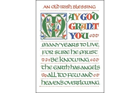 An Old Irish Blessing: May God grant you... Note Card
