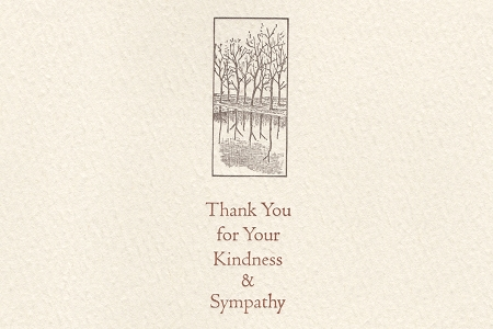 Thank You for Your Kindness And Sympathy Letter Press Fine Note Card