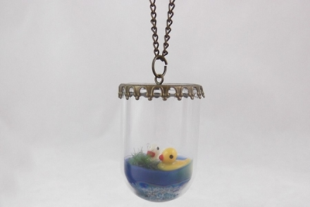 Swimming Ducks in Pond Necklace