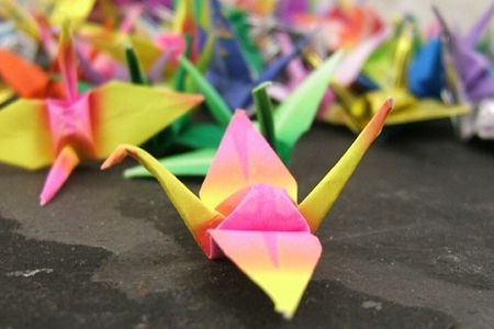 Tiny Origami Crane in Assorted Colors and Patterns