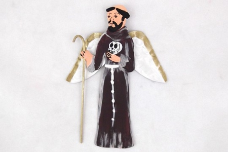Saint Francis Day of the Dead Angel Ornament