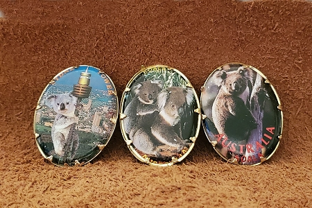Set of 3 Vintage Old Stock Koala Pins