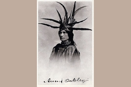 Annie Oakley Dressed for a Costume Ball as Sitting Bull, Jr Art Postcard