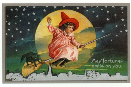 Art Postcard - Little Witch