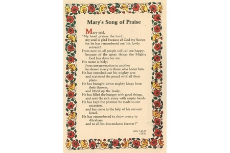 Mary's Song of Praise Vintage Postcard
