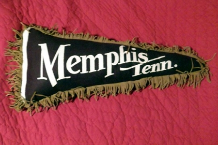 Kitschy Vintage Pennant Pillow - Memphis, Tennessee