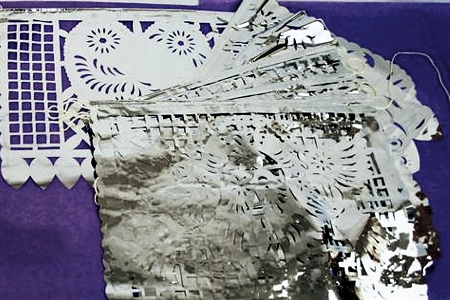 Intricately Cut WEDDING Silver Foil Papel Picado