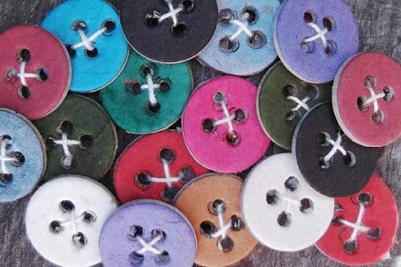 10 Assorted Paper Buttons