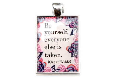 Pretty Oscar Wilde Quote Pendant
