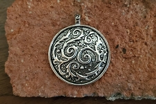 Cosmic Circle Stainless Steel Plated Pendant
