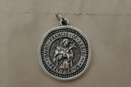 St Francis of Assisi Coin Medal / Pendant