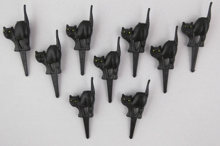 Black Cat Adornment - Package of 9
