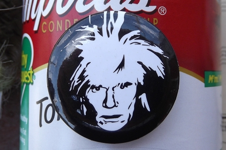 Andy Warhol Self Portrait, 1986 Pinback Button