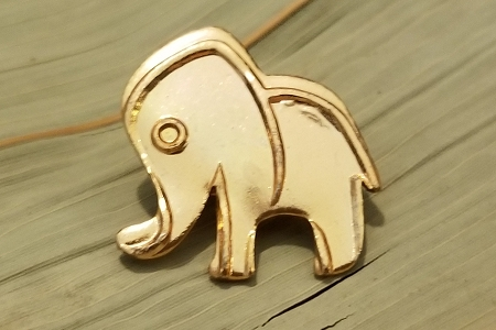 Vintage Brass Elephant Novelty Pin