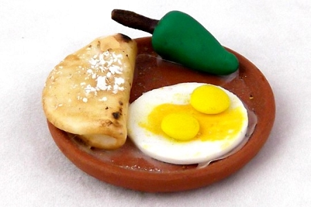 Miniature Mexican Breakfast Platter with Eggs
