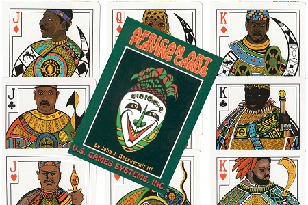 Rare African Art Playing Cards