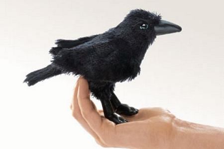 Mini Raven or Crow Puppet