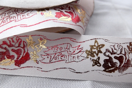 Vintage Satin and Metallic Ribbon - Be My Valentine (by the Design Repeat)