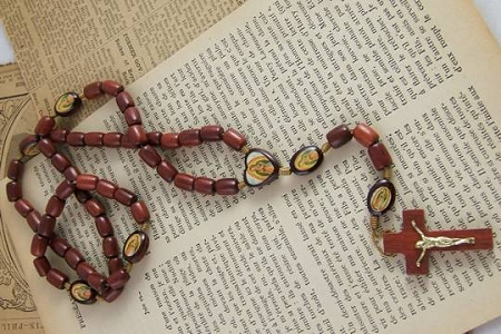 Wooden Rosary Featuring Our Lady of Guadalupe