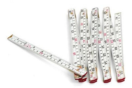 Large White Accordion Folding Ruler