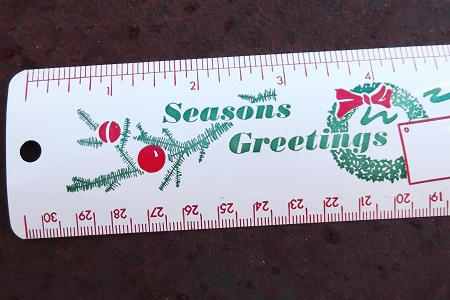 Special Complimentary Ruler from Derr Bros. - Seasons Greetings