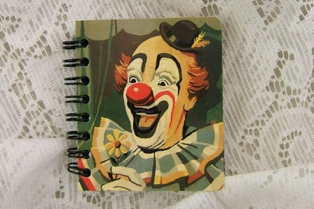 Vintage Style Clown Sticky Note Notebook