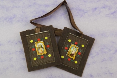 Fancy Brown Scapular