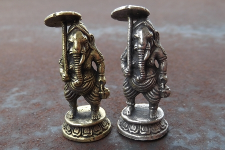 Small Lord Ganesha (Holding an Umbrella) Statuette
